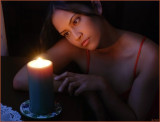 Pretty Face with Candle Light