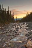 Dawn at Mount Edith Cavell