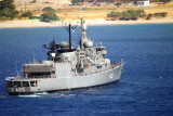 Greek Navy Battle ship Themistoklis in Karpathos