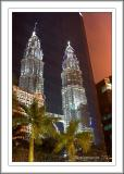 Petronas Towers in the mirror (will never forget this evening, me running around with the tripod)