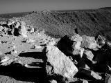rocks on rim