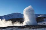Gullfoss og Geysir, mars 2008