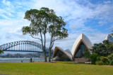 Opera House and Bridge from Government House