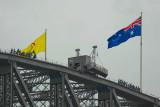 Loonies atop the Harbor Bridge