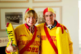 Ginny  and Bob gussied up as lifeguards