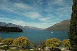 View of Lake Wakatipu from our hotel room