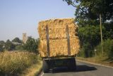 Collecting the bales!