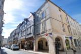 La Rochelle. The arcade streets