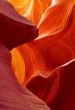 Antelope Canyon abstract, Navajo Reservation, AZ
