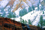 Snow Covered Cliffs, Zion National Park, UT