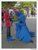 Blue guitarist.