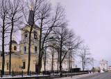 Churches behind Trees