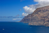View of Los Gigantes toward Punta de Teno