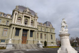 The Justice Palace and the Statue of Wilhelm Tell (Guillaume Tell)