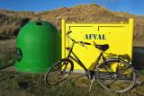 Afval met fiets