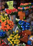 Tourist wooden tulips