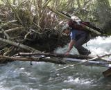 me crossing, with improved bridge, photo by Randy O'Connell