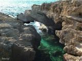 Blue cave in Habonim sea shore