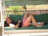 Having a nap on swinger