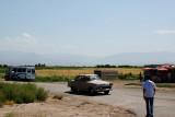 An old timer car visiting Khor Virab