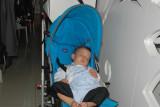Schant is sleeping.