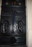 A hotel door in Prague