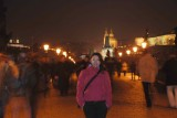 Lucy on the Charles bridge