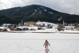 Gosau , Ani and Rouz leaving footsteps in snow
