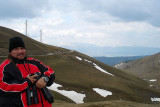 DonGa at the cold top of the Pyreenes, Spain 2007