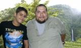 With my Son David, El Angel Waterfall 2008