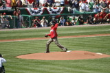 Obama throws out the 1st pitch