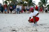 Manuel Follows Them Down The Beach