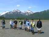 Our bear viewing group in Katmai