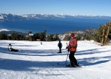 skiing tahoe  heavenly,   next stop Squaw valley