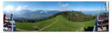Auf der Terrasse des Berggasthauses Wildspitz