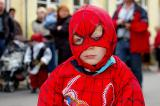Spiderman concentrating on the next dangerous task!