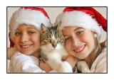 Posing for the 2007 Christmas Card, December 2007