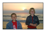 Sunset on the Isle of Texel, August 2004