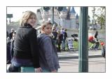 Watching the parade in Disneyland Paris, April 2010