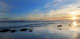 Sunrise over the farne islands