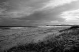 Ross beach, Bamburgh castle