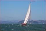 Sailing on the windy San Francisco Bay