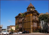 San Francisco  area of   Victorian style homes