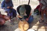 Muzungu Mols sampling Zambian village katube