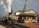 New Hope Train Station at Christmas