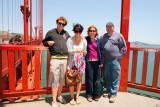 Nick Allie Monique and Gavin at Golden Gate Bridge