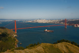 View down on to Golden Gate