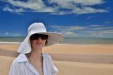 Women's white hat