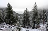 View from Daggett Summit after a light snowfall