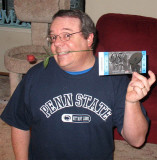 Alan at home - with a ticket!
